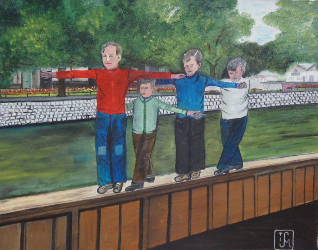 Joop Smits painting - Dangerous Game