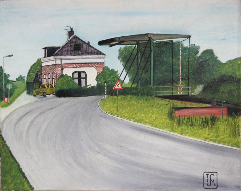 Joop Smits painting - Fort at Uitermeer