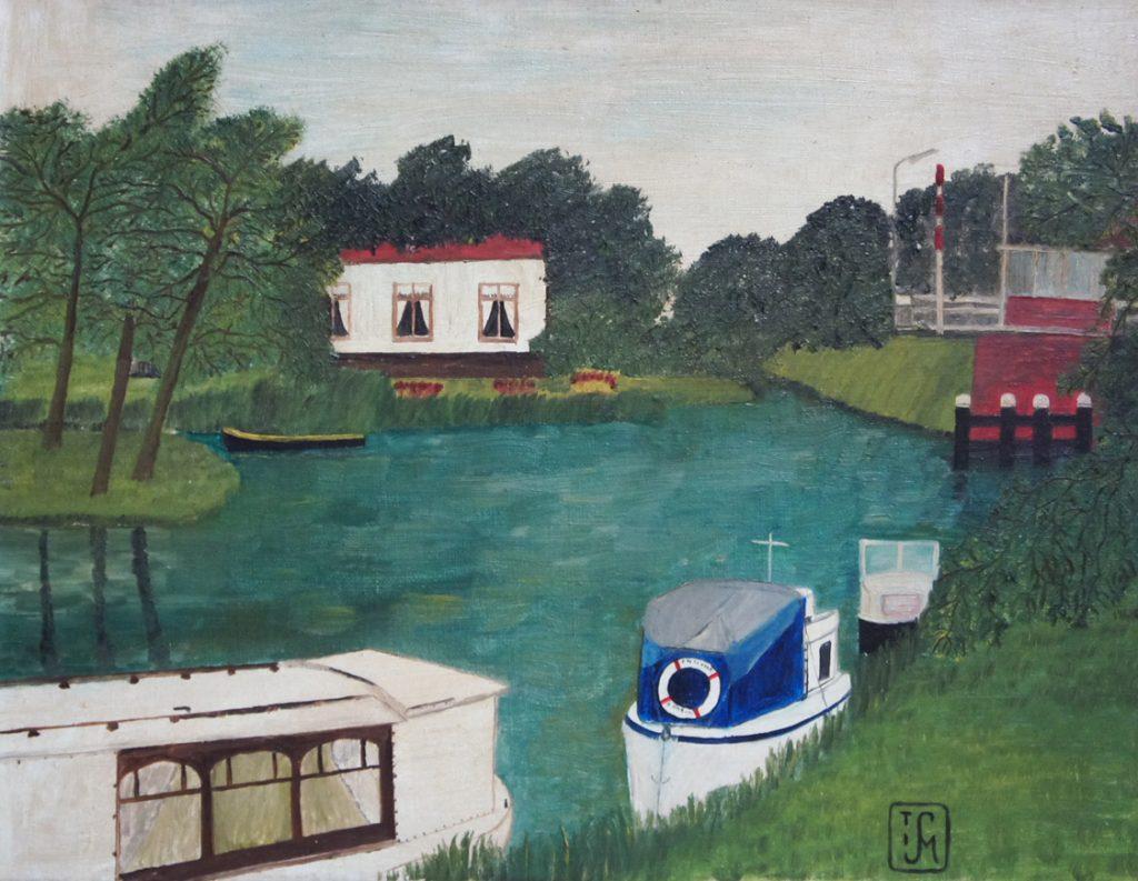 Joop Smits painting - Head of the lock