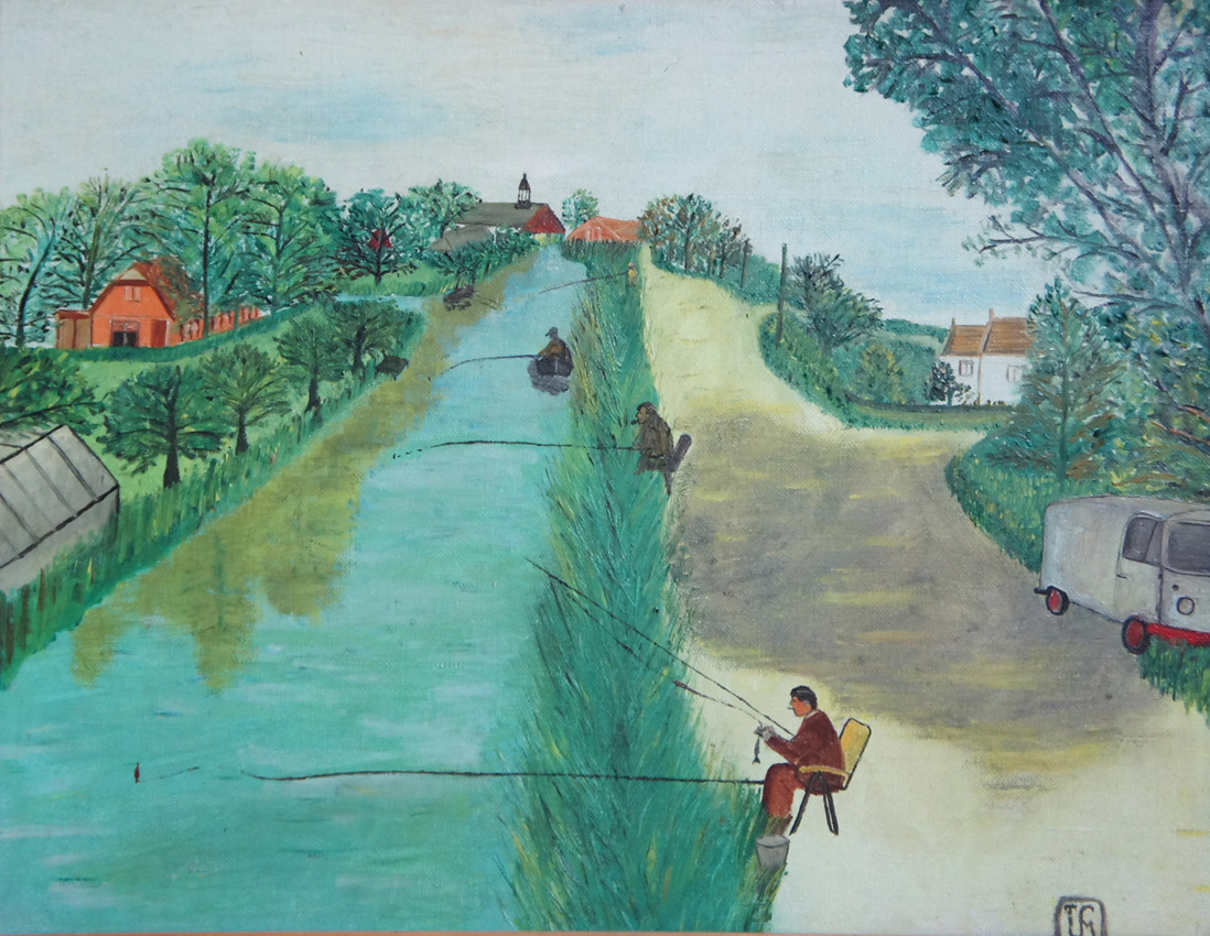 Joop Smits painting - Our Last Fishing Day