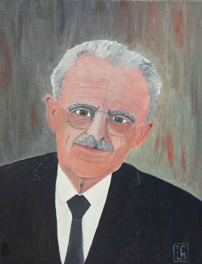 Joop Smits painting - Portrait of Dr. Drees