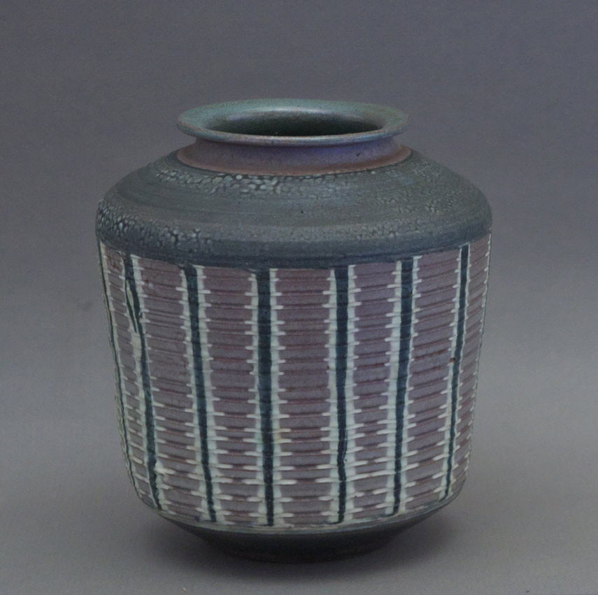 "Canadian Pottery - Adolf & Louise Schwenk vase, ht. 6-1/2"" Penticton - British Columbia"