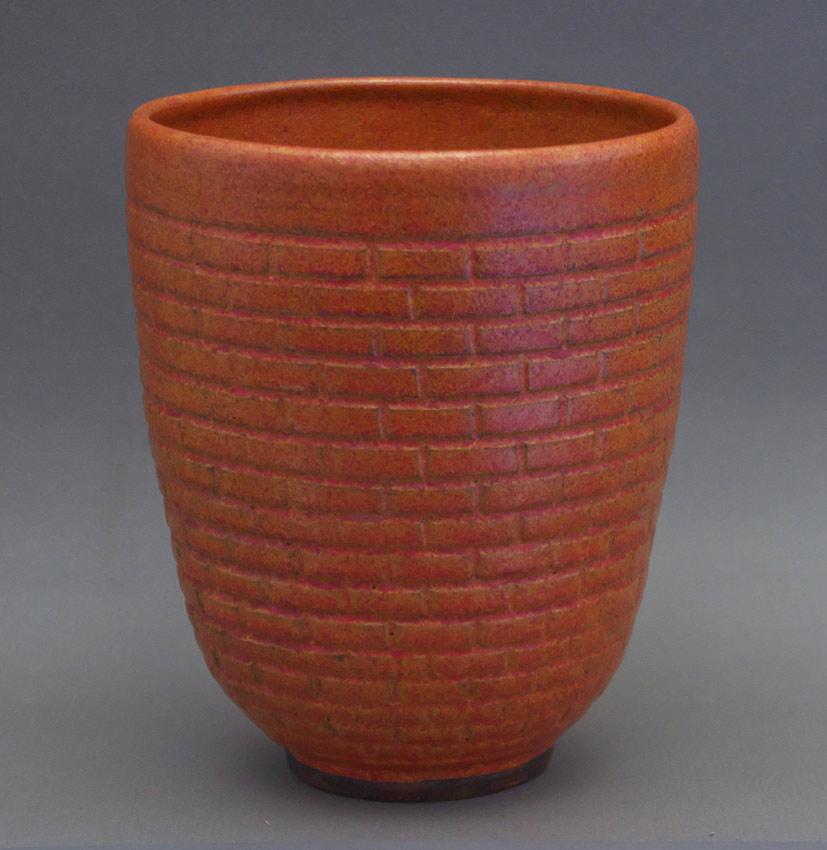 Canadian Pottery - Ernst & Alma Lorenzen vase, ht. 7-1/2″ - Nova Scotia
