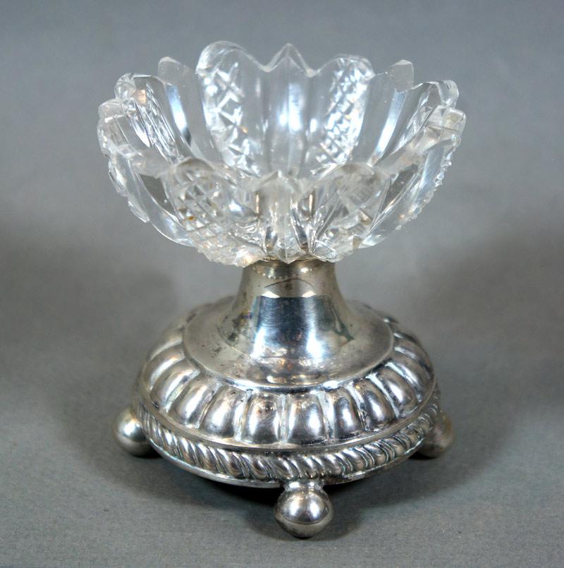 Silver mounted Salt cellar