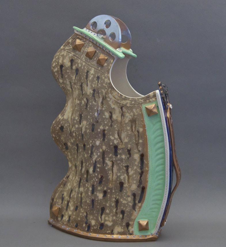 Canadian Pottery - Gary Merkel vase, 15″ - British Columbia