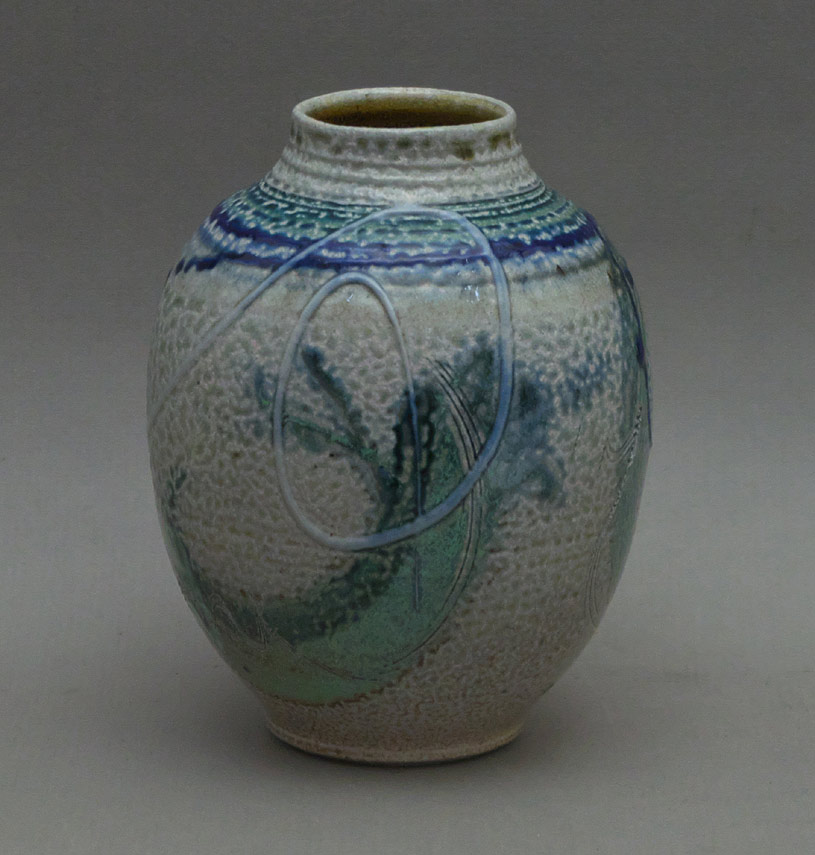 Canadian Pottery - Gordon Hutchens vase, salt glaze, ht. 5-1/2″ - British Columbia