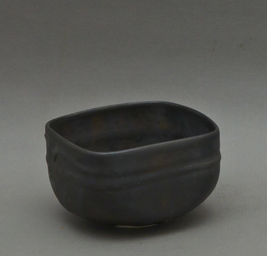 Canadian Pottery - Judy Dyelle teabowl, 1984, ht. 2-3/4″ - British Columbia