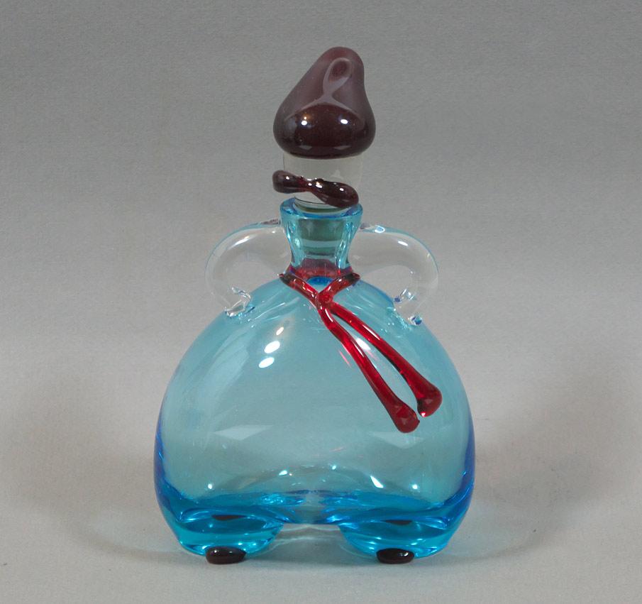 Glass 'Cossack' Vodka flask