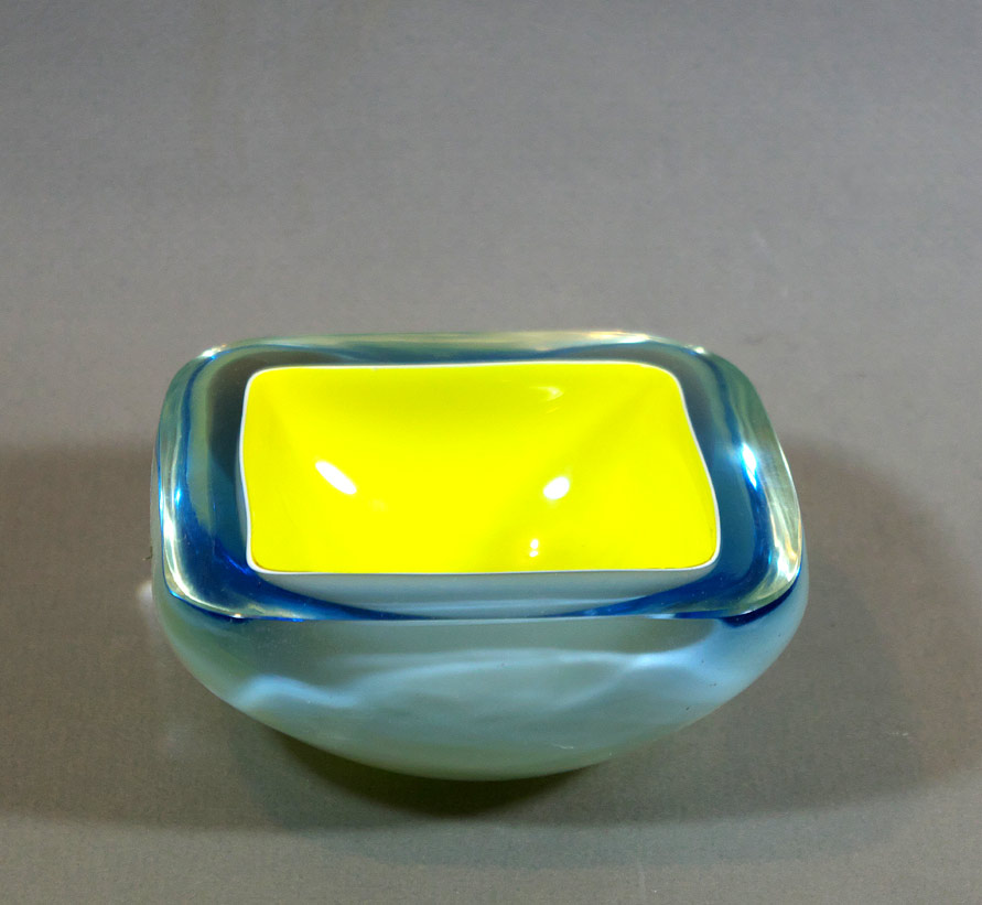 Murano cased glass bowl