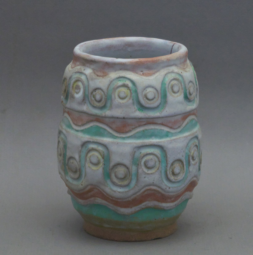 Canadian Pottery - Nan Lawson Cheney faience vase, 5-1/2″ - British Columbia