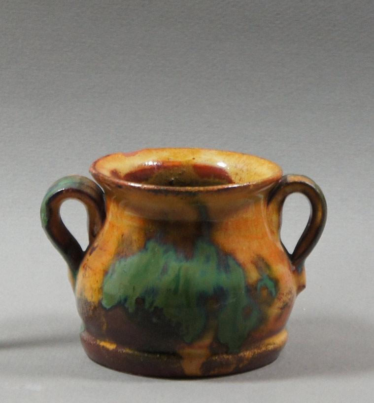 "Axel Ebring pottery vase – Notch Hill - 3"" high"