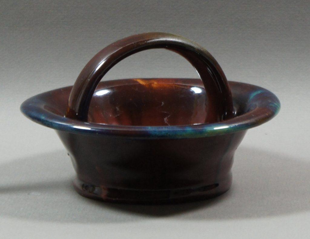 """Axel Ebring pottery basket – Vernon BC - 4"""" high"""