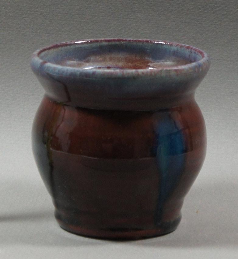 "Axel Ebring pottery jar, Vernon BC - 4"" high"