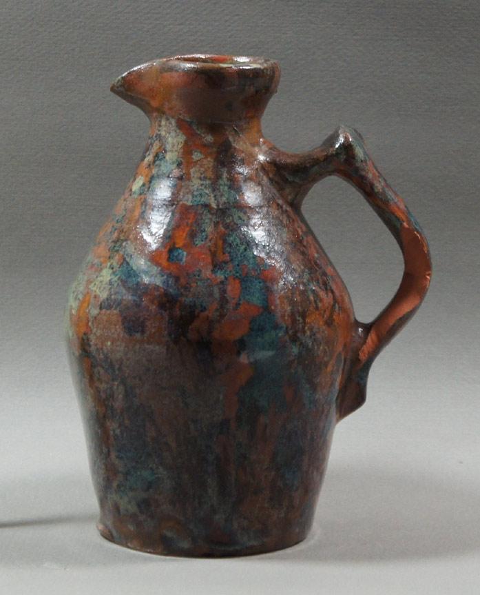 """Axel Ebring pottery jug – Vernon BC - 6-1/2"""" high"""