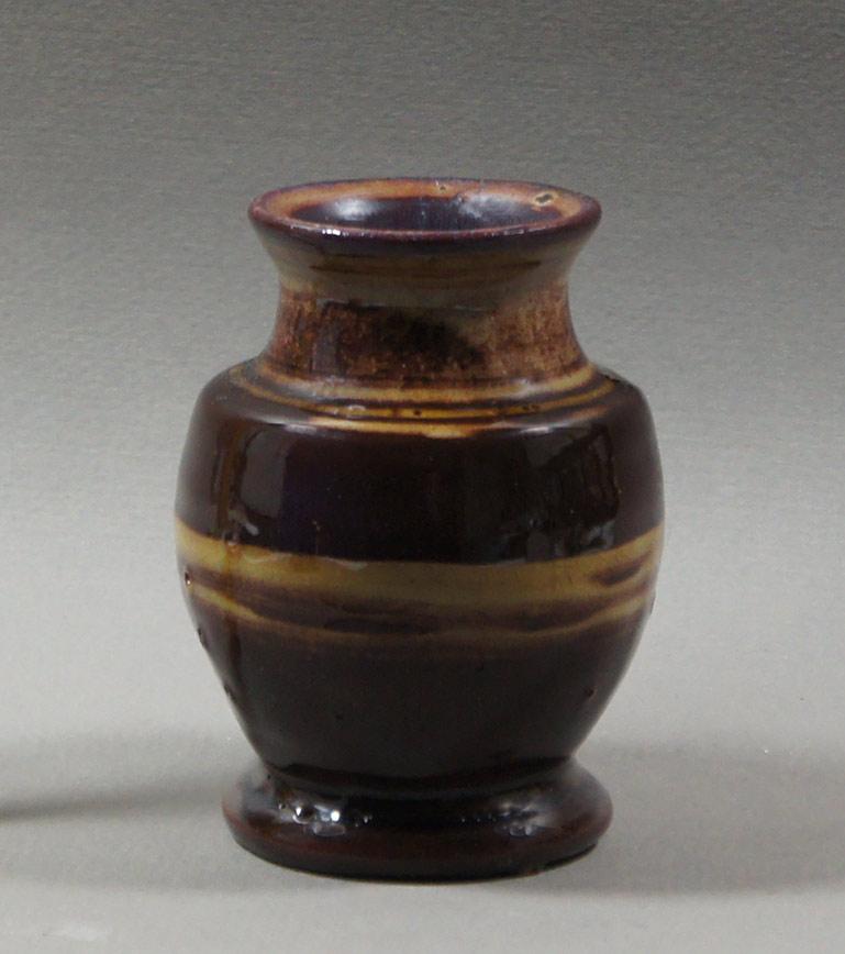 "Axel Ebring pottery vase – Vernon BC - 4"" high"