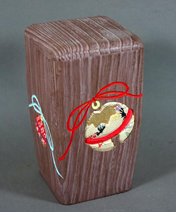 Japanese wooden tea caddy