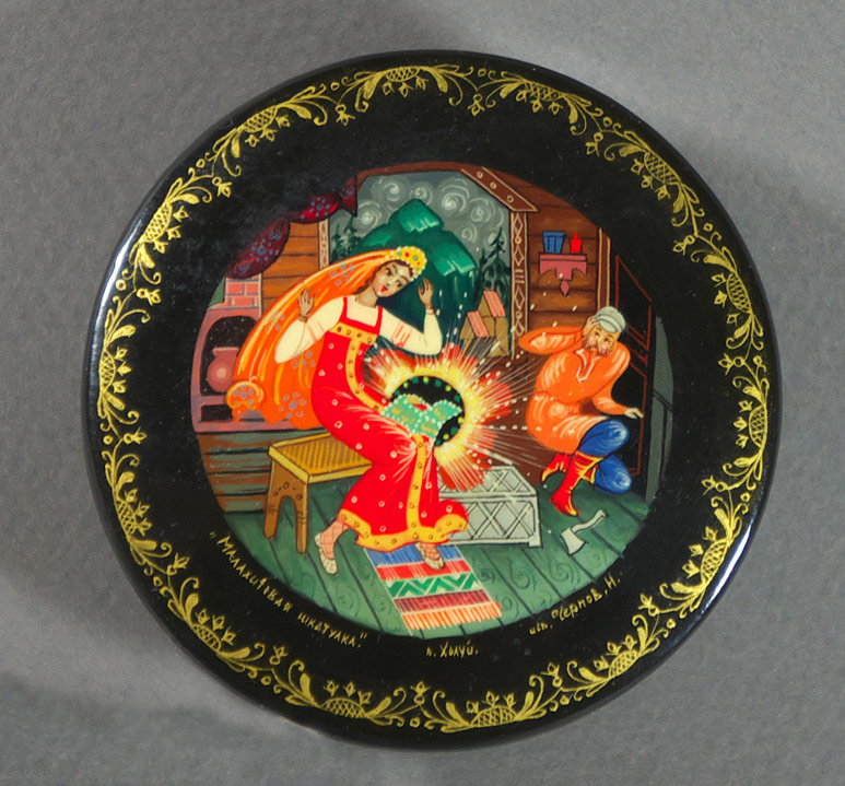 Russian lacquer box from the village of Khouli