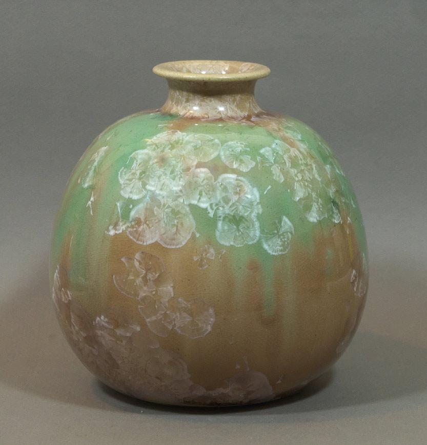 crystalline glaze vase by Otto Wichmann