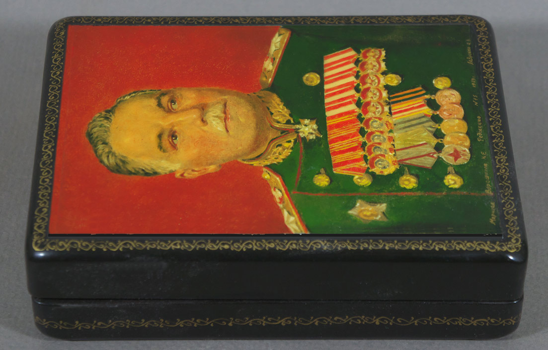 russian marshall vorshilov lacquer box