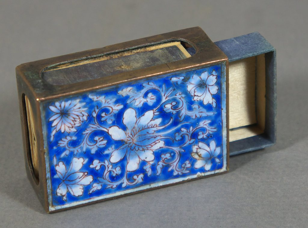 Match box cover, Canton enamel