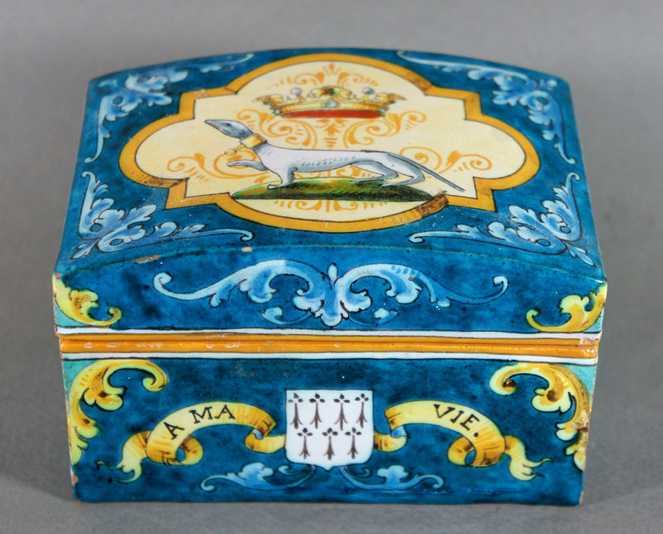 French Faience box from Ulysse Blois