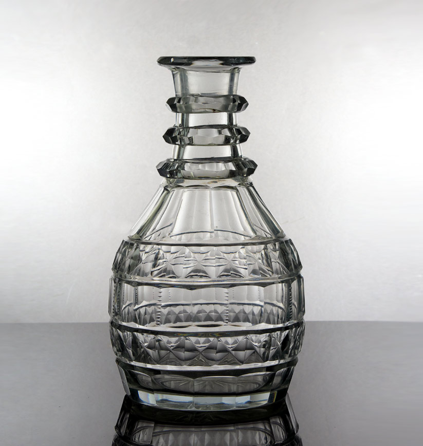 18th c. English cut glass decanter