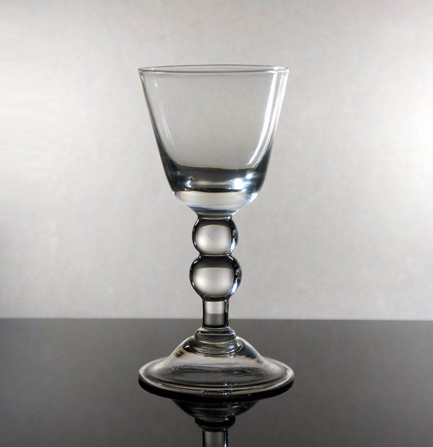 18th c. baluster wine glass