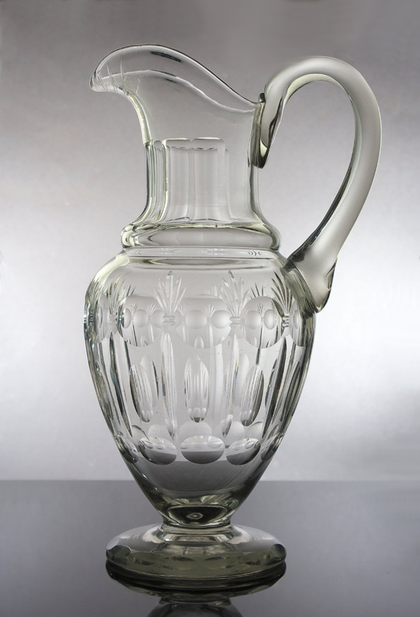 19th century cut glass pitcher