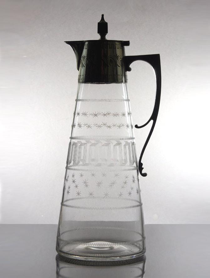English silver mounted claret jug