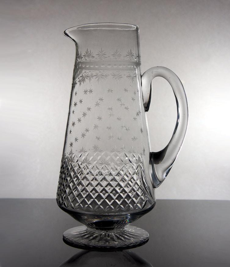 Edwardian Cut Glass Water Jug