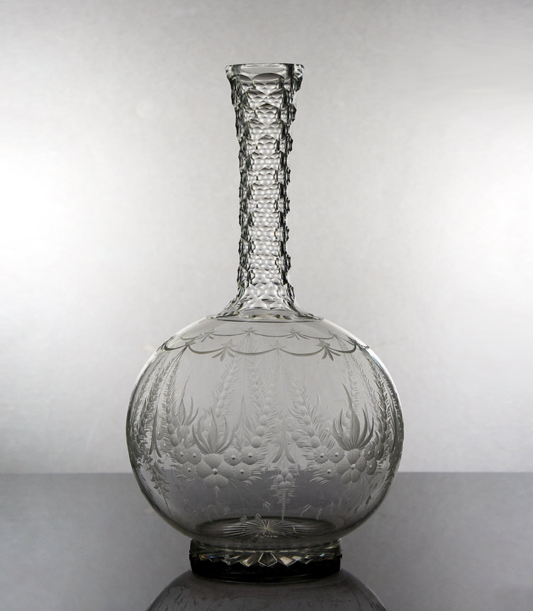 Edwardian cut class wine decanter