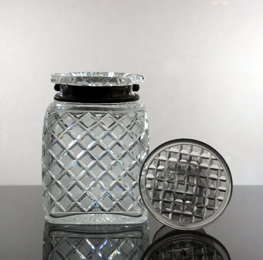 cut glass humidor