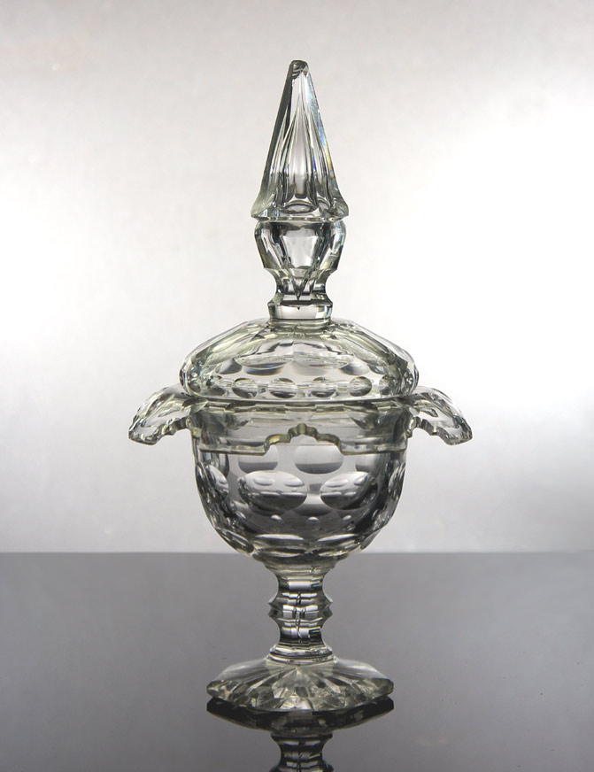 Irish 18th century style cut glass compote