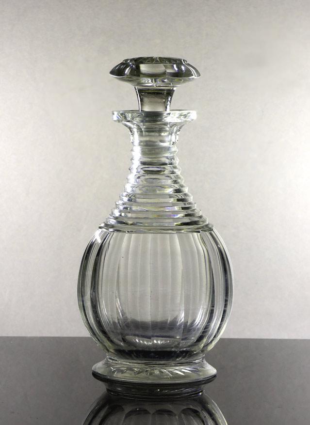Small Georgian cut glass wine decanter