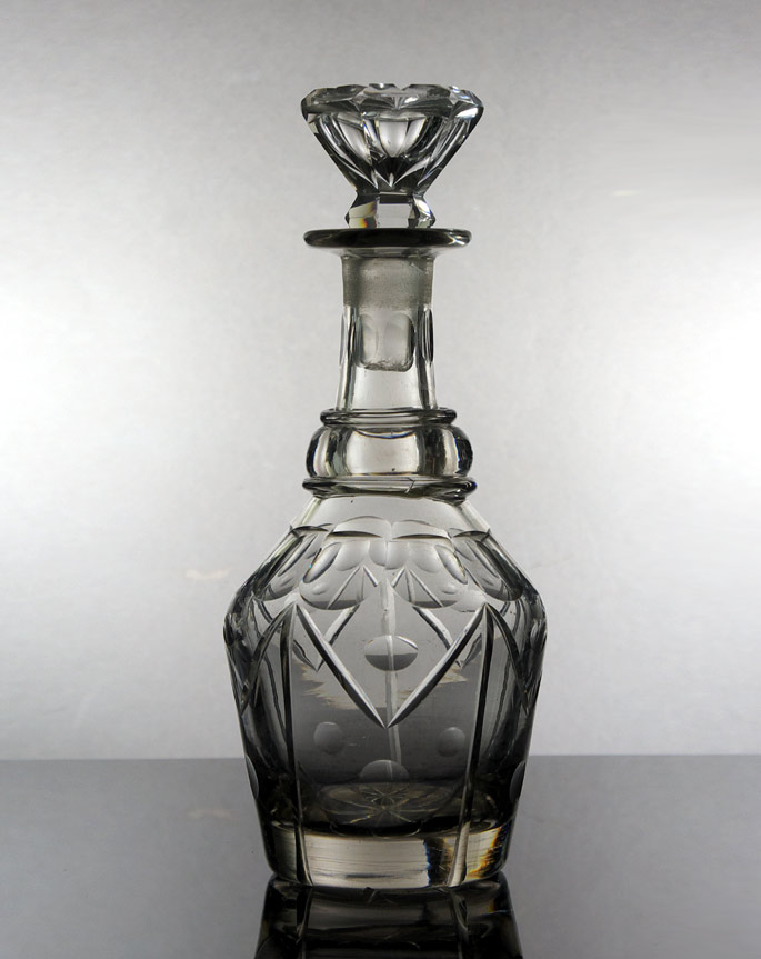 Victorian Anglo-Irish cut glass decanter
