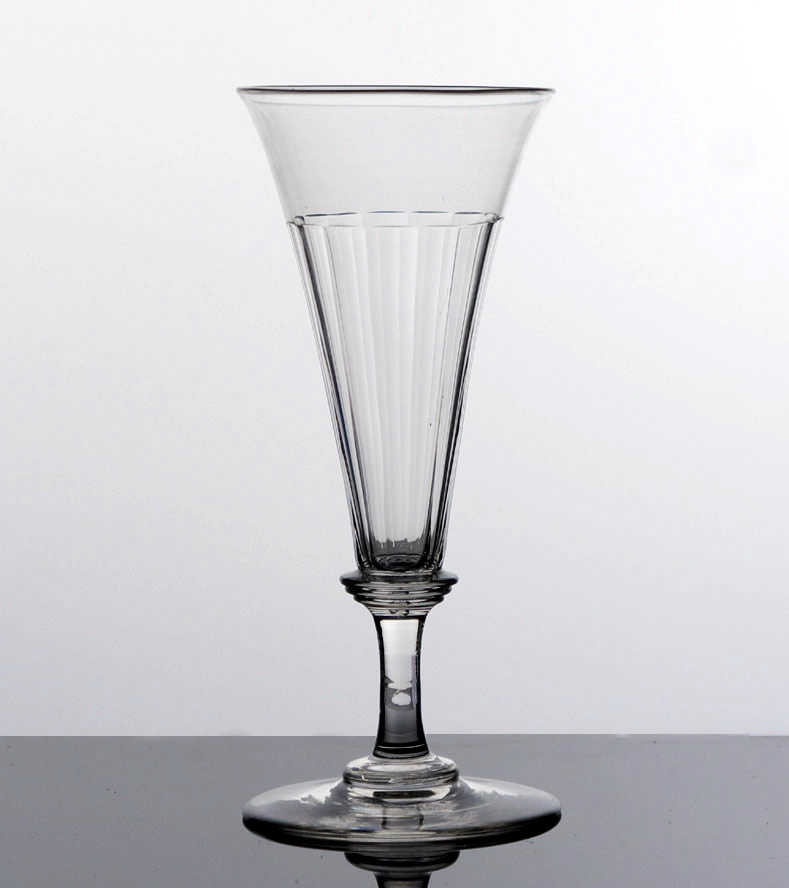 Victorian champagne flute drinking glass