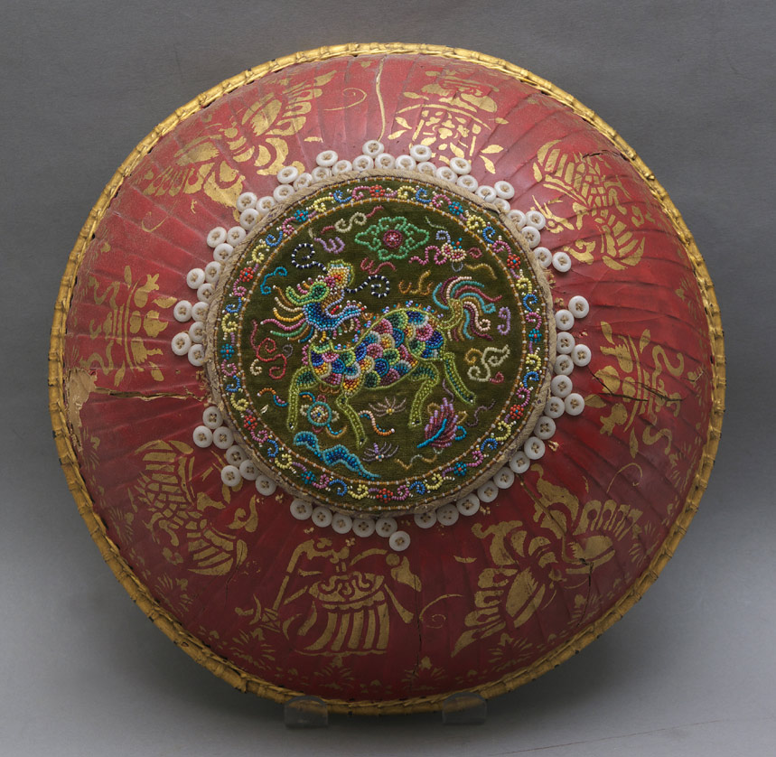 Beaded Chinese wedding basket cover