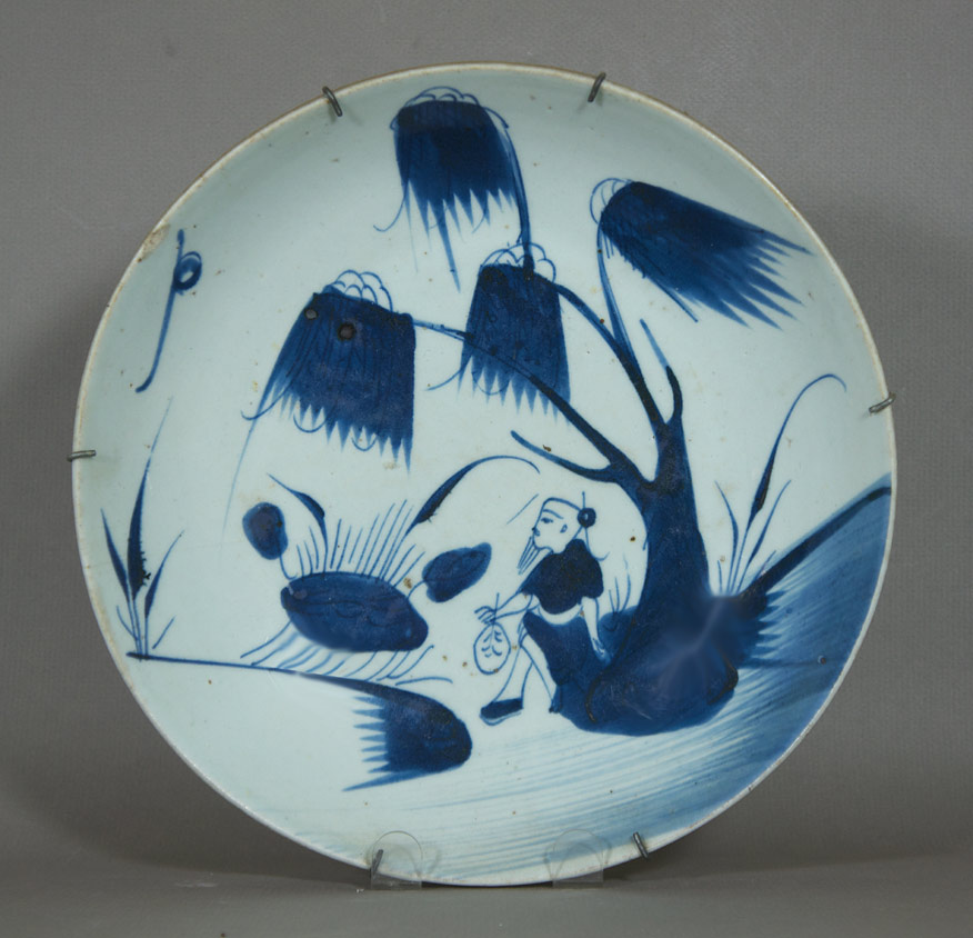 Blue and white Annamese export plate