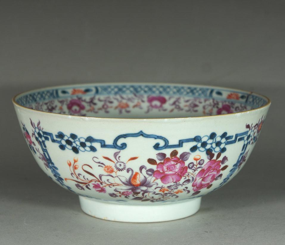 19th c. famille rose bowl