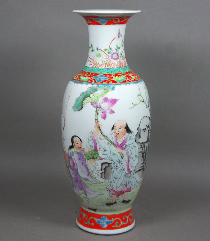 Republic period famille rose porcelain vase