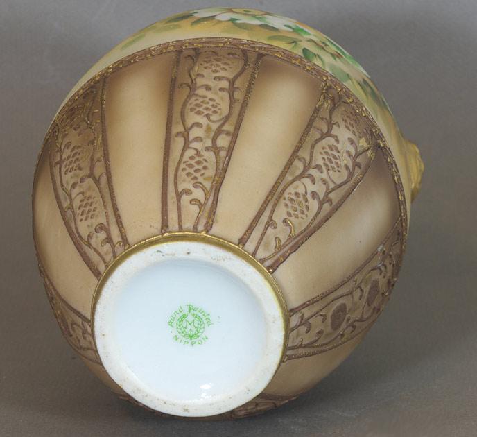 Nippon moriage vase, 'M' mark