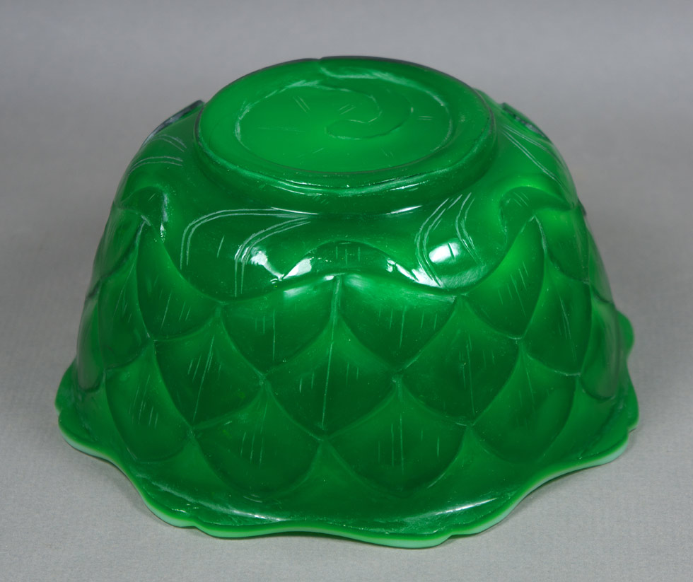 Peking Glass Lotus Bowl #1, underside