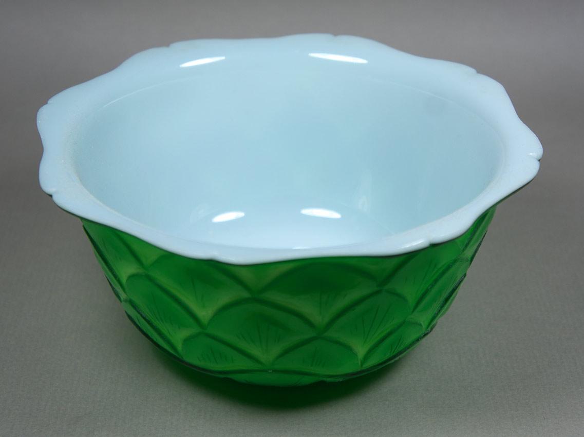 Peking Glass Lotus Bowl interior