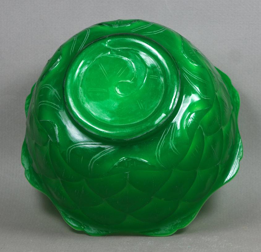 Peking Glass Lotus Bowl base