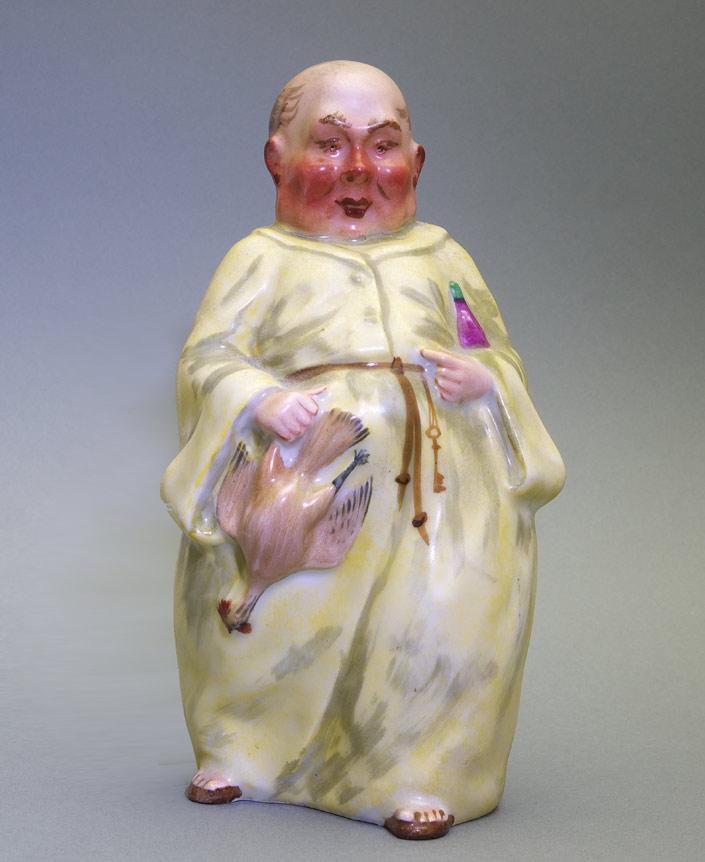 Paris porcelain monk lamp